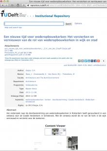 Afstudeerwerk in Repository TU Delft